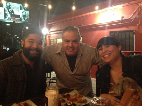 """From Left: Thu, """"Old Man Guisado,"""" and Rachel"""