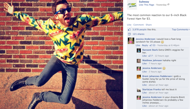 This Week in Subway Facebook Comments 3/25