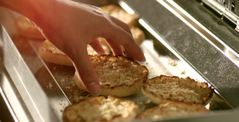 Where did those homemade english muffins come from?