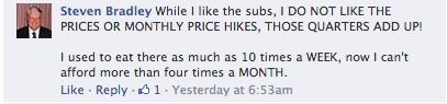 Subway Price Hikes