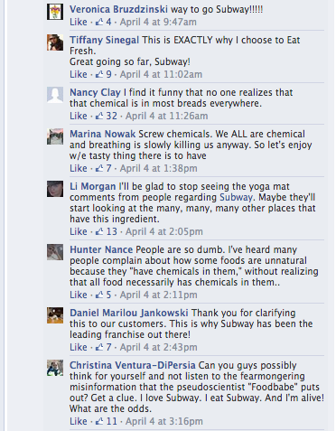 Subway Customer Feedback on Facebook