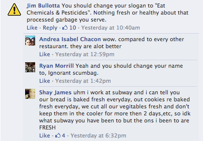 Subway Worker Comment