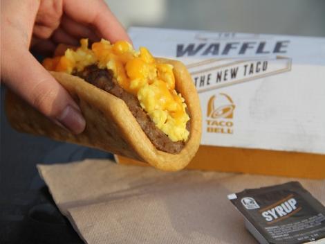 Wakey wakey, eggs and... waffle taco?