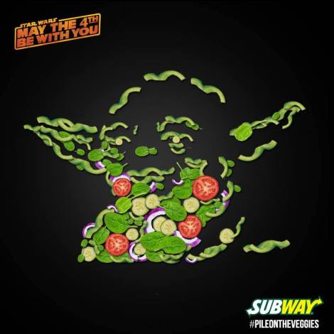 Subway star wars veggies
