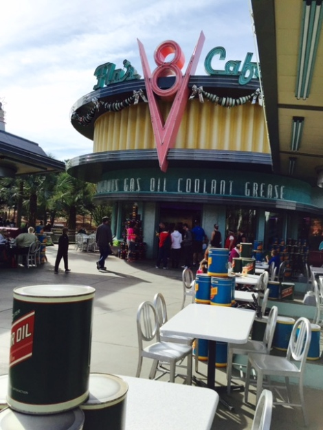 Flo's V-8 Cafe Entrance in Cars Land
