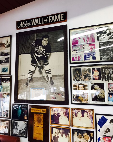 Mike's Hockey Burger Wall of Tolerance
